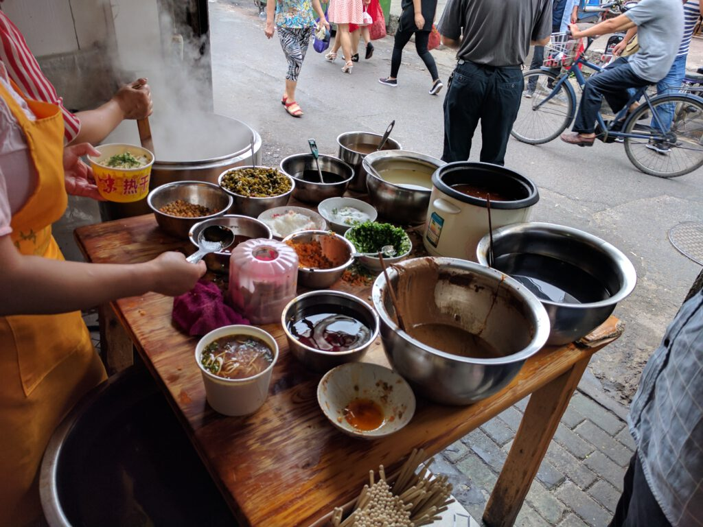 Hot Dry Noodle Street Vendor