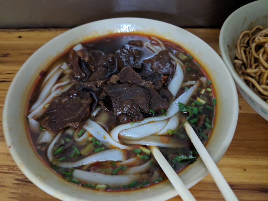 Braised beef noodle soup, another popular staple